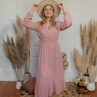 Textil Ženy Společenské šaty Céleste COLOMBE Růžová