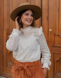Textil Ženy Halenky / Blůzy Céleste HIRONDELLE Bílá
