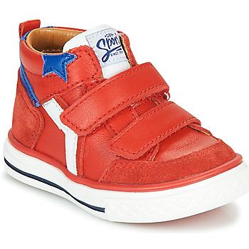 Boty Chlapecké Kotníkové tenisky GBB FLAVIO Červená