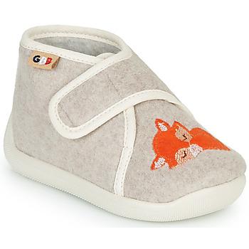 Boty Dívčí Papuče GBB APOCHOU Béžová