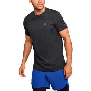 Textil Muži Trička s krátkým rukávem Under Armour Rush HG Seamless Fitted Grafitové