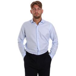 Textil Muži Košile s dlouhymi rukávy Les Copains 000.058 P3196SL Modrý