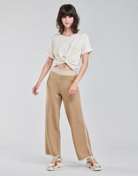 Textil Ženy Tříčtvrteční kalhoty Only ONLLILA Béžová
