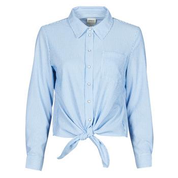 Textil Ženy Košile / Halenky Only ONLLECEY Modrá