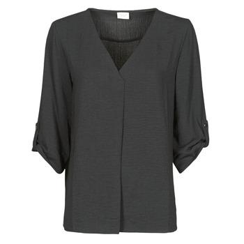 Textil Ženy Halenky / Blůzy JDY JDYDIVYA 3/4 TOP WVN NOOS Černá