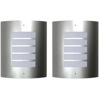Bydlení Nástěnná světla VidaXL Venkovní osvětlení Argent