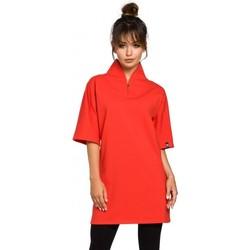 Textil Ženy Tuniky Be B043 Kimono tunika - červená