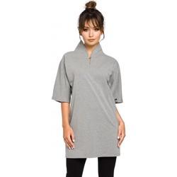 Textil Ženy Tuniky Be B043 Kimono tunika - šedá