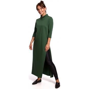 Textil Ženy Tuniky Be B163 Tunika s vysokým rozparkem - trávově zelená