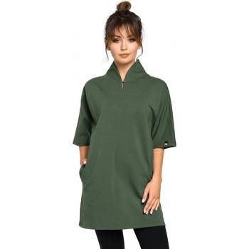 Textil Ženy Tuniky Be B059 Pletená tunika s lemem Rav - grafitová
