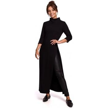 Textil Ženy Tuniky Be B163 Tunika s vysokým rozparkem - černá