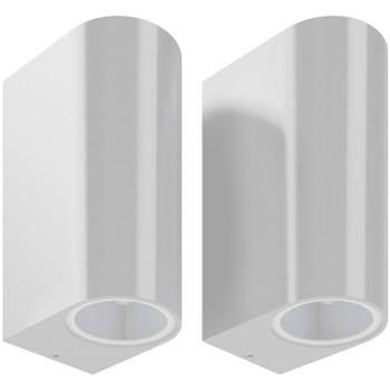 Bydlení Nástěnná světla VidaXL Venkovní osvětlení 6.6 x 9.5 x 14.5 cm Argent