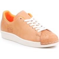 Boty Muži Nízké tenisky adidas Originals Adidas Superstar 80s Clean BA7767 brown, orange