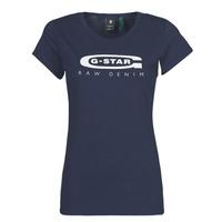 Textil Ženy Trička s krátkým rukávem G-Star Raw GRAPHIC 20 SLIM Modrá