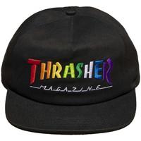 Textilní doplňky Muži Kšiltovky Thrasher Cap rainbow mag snapback Černá