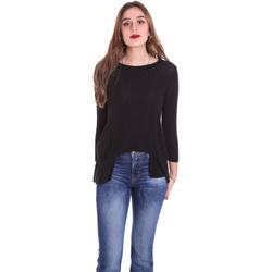 Textil Ženy Trička s dlouhými rukávy Dixie T340M028 Černá