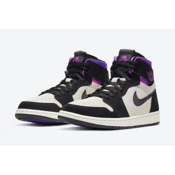 Boty Kotníkové tenisky Nike Air Jordan 1 Zoom Comfort x PSG White/Black-Psychic Purple-Hyper Pink