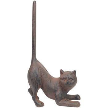 Bydlení Sošky a figurky Signes Grimalt Dveře Podporuje Cat Gris