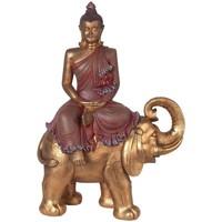Bydlení Sošky a figurky Signes Grimalt Buddha On Elephant Dorado