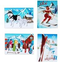Bydlení Vánoční dekorace Signes Grimalt Sníh Magnetické Sept. 4 U Multicolor