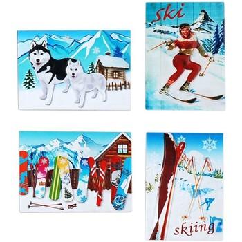 Bydlení Vánoční dekorace Signes Grimalt Magnetický Sníh Set 4 U Multicolor