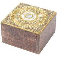 Bydlení Kufry, úložné boxy Signes Grimalt Square Šperkovnice Dorado