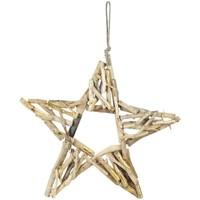 Bydlení Vánoční dekorace Signes Grimalt Hvězda Se Dřevem Dorado