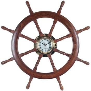 Bydlení Hodiny Signes Grimalt Wheel Clock Marrón