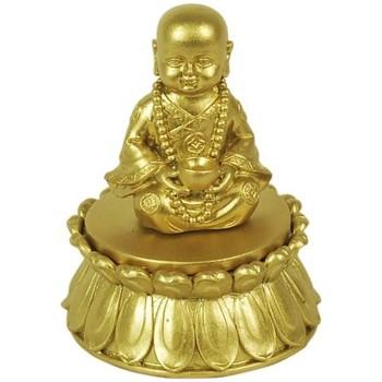 Bydlení Sošky a figurky Signes Grimalt Golden Buddha Box Dorado