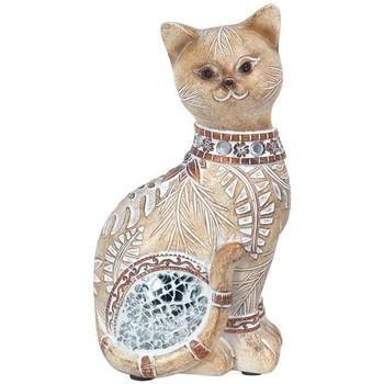 Bydlení Sošky a figurky Signes Grimalt Malá Cat Zrcadlo Marrón