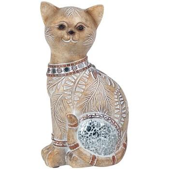 Bydlení Sošky a figurky Signes Grimalt Cat Zrcadlo Marrón