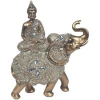 Bydlení Sošky a figurky Signes Grimalt Sedící Buddha On Elephant Dorado