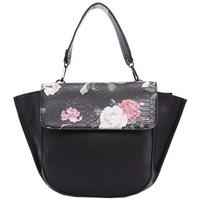 Taška Ženy Tašky přes rameno Diana & Co Květinová dámská taška s klopou černá černá
