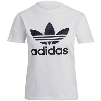 Textil Ženy Trička s krátkým rukávem adidas Originals Trefoil Tee Bílé