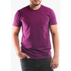 Textil Muži Trička & Pola Edwin T-shirt avec poche violet