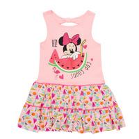 Textil Dívčí Krátké šaty TEAM HEROES  MINNIE DRESS Růžová