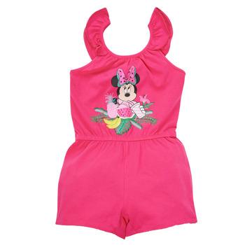 Textil Dívčí Overaly / Kalhoty s laclem TEAM HEROES  MINNIE JUMPSUIT Růžová