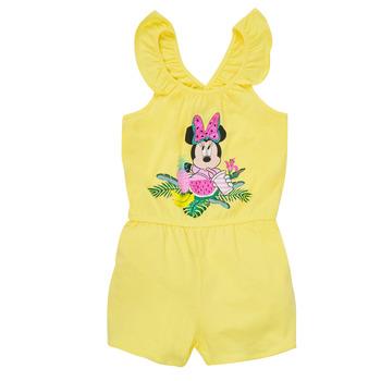 Textil Dívčí Overaly / Kalhoty s laclem TEAM HEROES  MINNIE JUMPSUIT Žlutá