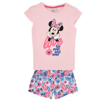 Textil Dívčí Set TEAM HEROES  MINNIE SET Růžová