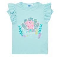 Textil Dívčí Trička s krátkým rukávem TEAM HEROES  PEPPA PIG TEE Modrá