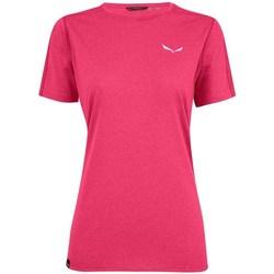 Textil Ženy Trička s krátkým rukávem Salewa Pedroc 3 Dry W Růžové