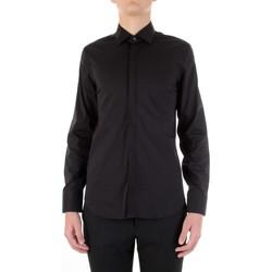 Textil Muži Košile s dlouhymi rukávy Manuel Ritz 3030E651-213229 Černá