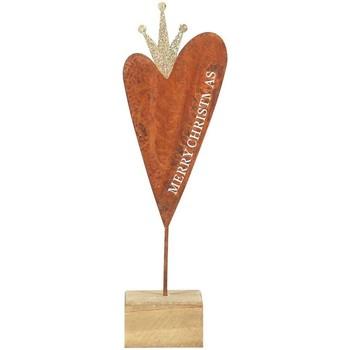 Bydlení Vánoční dekorace Signes Grimalt Malé Dřevěné Základní Srdce Multicolor