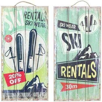 Bydlení Obrazy, plátna Signes Grimalt Deskové Zdi Set 2 Jednotky Multicolor
