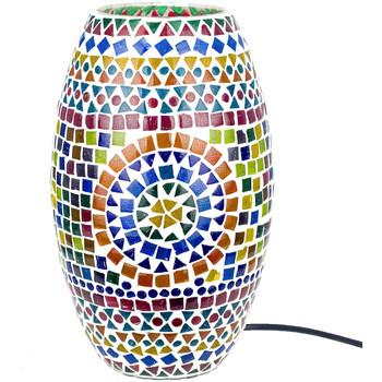 Bydlení Stolní lampy Signes Grimalt Mosaic Lamp Cylinder Multicolor