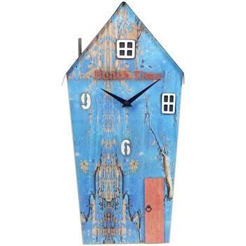 Bydlení Hodiny Signes Grimalt Regenerovaný Wood Clock Dům Azul