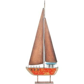 Bydlení Sošky a figurky Signes Grimalt Recyklované Dřevo Plachetnice Rojo