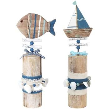 Bydlení Sošky a figurky Signes Grimalt Lodní Ornament Trunk 2U Multicolor