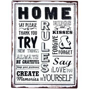 Bydlení Obrazy, plátna Signes Grimalt Home Plate Wall Multicolor