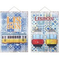 Bydlení Obrazy, plátna Signes Grimalt Stěna Ornament Lisabon 2 Dif. Multicolor